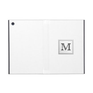 Printed Custom Monogram. Black and White. iPad Mini Case
