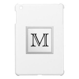Printed Custom Monogram. Black and White. iPad Mini Covers