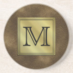 Printed Custom Monogram Image. Brown.