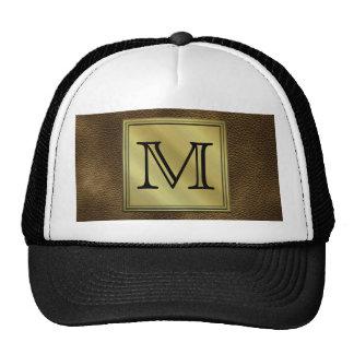 Printed Custom Monogram Image. Brown. Trucker Hat