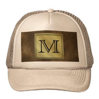 Printed Custom Monogram Image Brown Mesh Hat