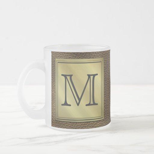 Printed Custom Monogram Image. Brown. Mug