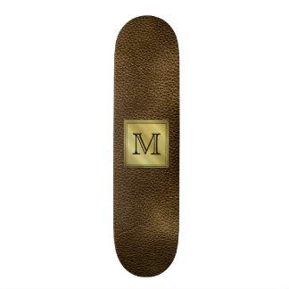 Printed Custom Monogram Image. Brown. Skate Deck
