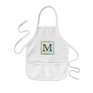 Printed Custom Monogram Image. Pretty, multicolor. Kids Apron