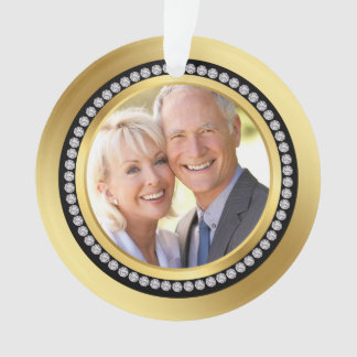 Printed diamonds 50th Wedding Anniversary Ornament