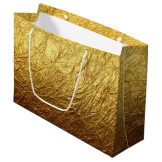 Printed Faux Gold Foil Modern Wedding Party Large Gift Bag