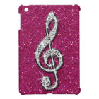 Printed Glitzy Sparkly Diamond Music Note Case For The iPad Mini