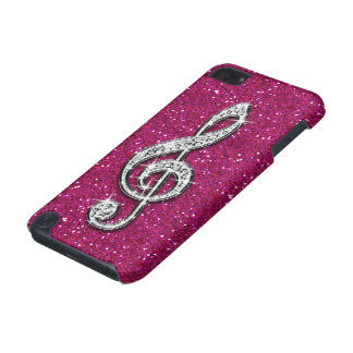 Printed Glitzy Sparkly Diamond Music Note iPod Touch 5G Cases