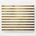 printed golden color stripes mousepads