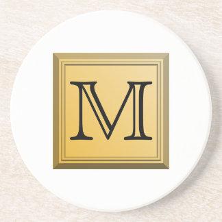 Printed image of a custom monogram design. coasters