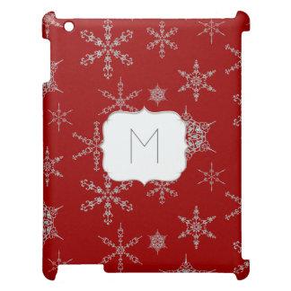 Printed Jewel Snowflakes Jewelry Winter Bling iPad Case