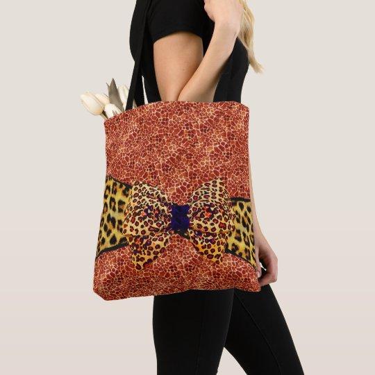 Personalized Giraffe Print Messenger Bag