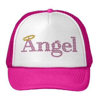 Printed Rhinestone Angel Cap