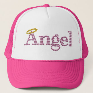 Printed Rhinestone Angel Trucker Hat