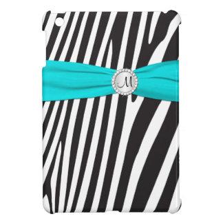 PRINTED RIBBON Aqua Zebra Stripes iPad Mini Case