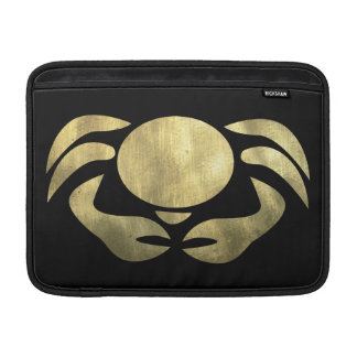 Printed Rustic Gold Cancer Crab Sleeve For MacBook Air