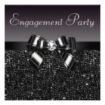 Printed Sequins, Bow & Diamond Engagement Party