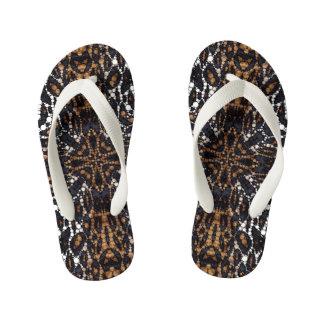 Printed Tiger Bling Pattern Flip Flops