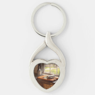 Printer - A hope and a brayer Silver-Colored Twisted Heart Key Ring