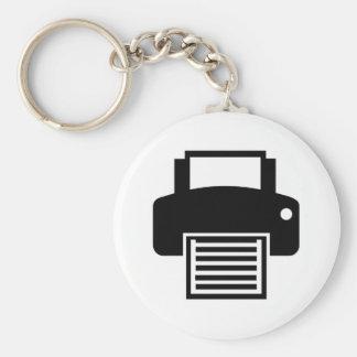Printer Basic Round Button Key Ring