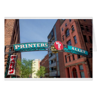 Printer's Alley Card