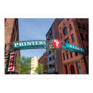 Printer's Alley Postcard