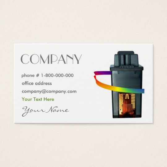 Printing Ink Cartridge Business Card