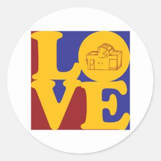 Printing Love Round Sticker
