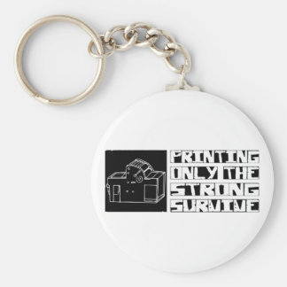 Printing Survive Basic Round Button Key Ring