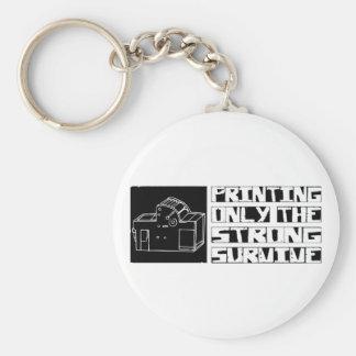 Printing Survive Basic Round Button Key Ring