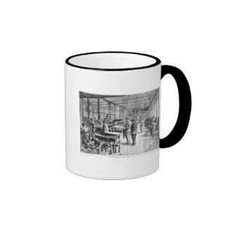 Printing the banknotes coffee mugs