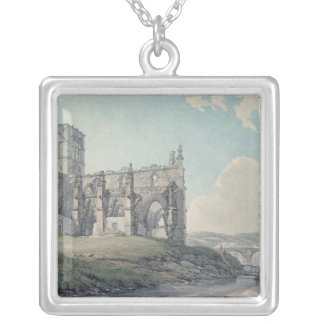 Prior Church, Haddington, 1786 Silver Plated Necklace