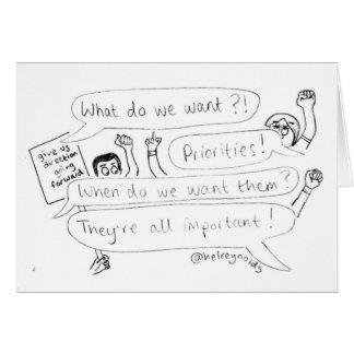 Priorities Card