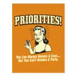Priorities: You Can Always Retake a Class