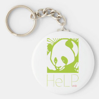 Priority species: Giant panda Basic Round Button Key Ring