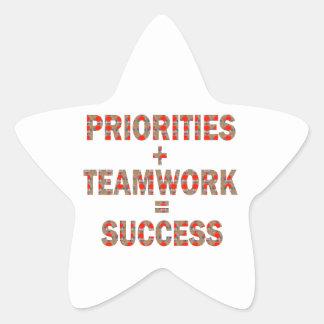 PRIORITY Teamwork Success Wisdom LOWPRICE GIFTS Star Sticker
