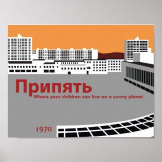 Pripyat Propaganda Style Poster