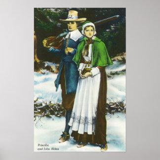 Priscilla and John Alden Scene Poster