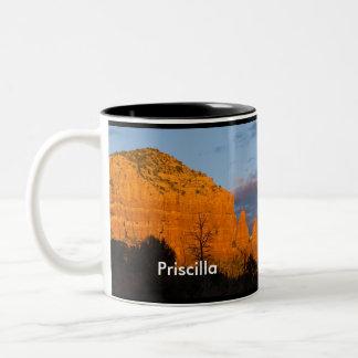 Priscilla on Moonrise Glowing Red Rock Mug