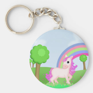 Priscilla the Pink Princess Pony Basic Round Button Key Ring
