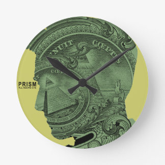 PRISM - All Seeing Eye - Lime Wall Clock