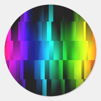 Prism Fractions Round Sticker