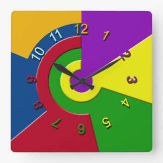 Prism Square Wall Clock