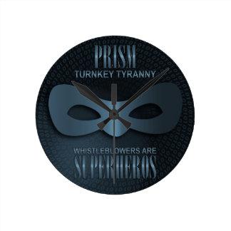 """PRISM - """"TURNKEY TYRANNY"""" WALLCLOCKS"""