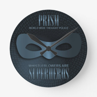 PRISM - WORLD WIDE THOUGHT POLICE - Blue Wallclock