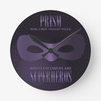 PRISM - WORLD WIDE THOUGHT POLICE WALL CLOCKS