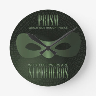 PRISM - WORLD WIDE THOUGHT POLICE WALLCLOCK