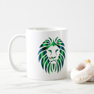 Prismatic Colorful Lion Head, Novelty Coffee Mug