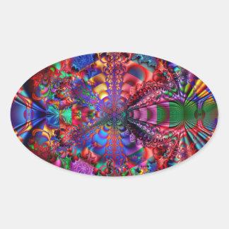 Prismatic Oval Sticker