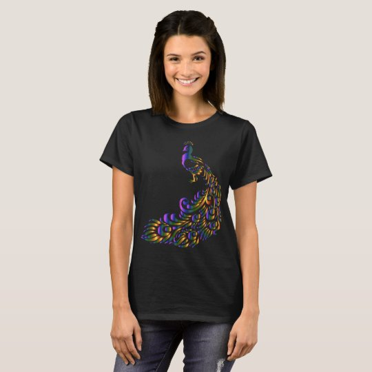Prismatic Peacock woman t-shirt